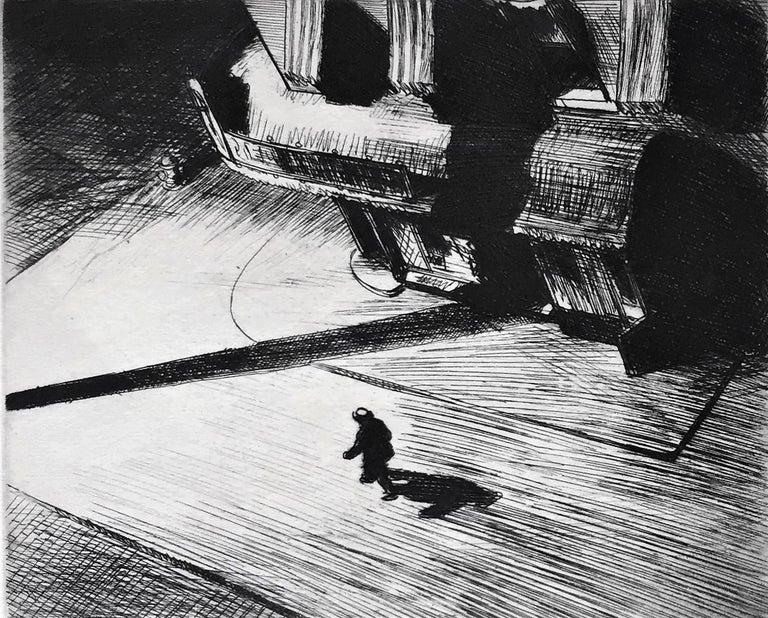 Night Shadows - Print by Edward Hopper