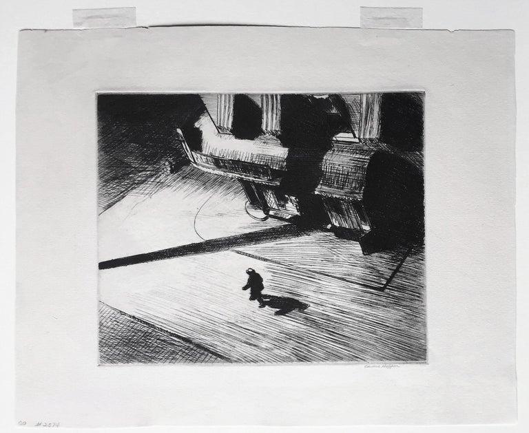 Night Shadows - American Modern Print by Edward Hopper