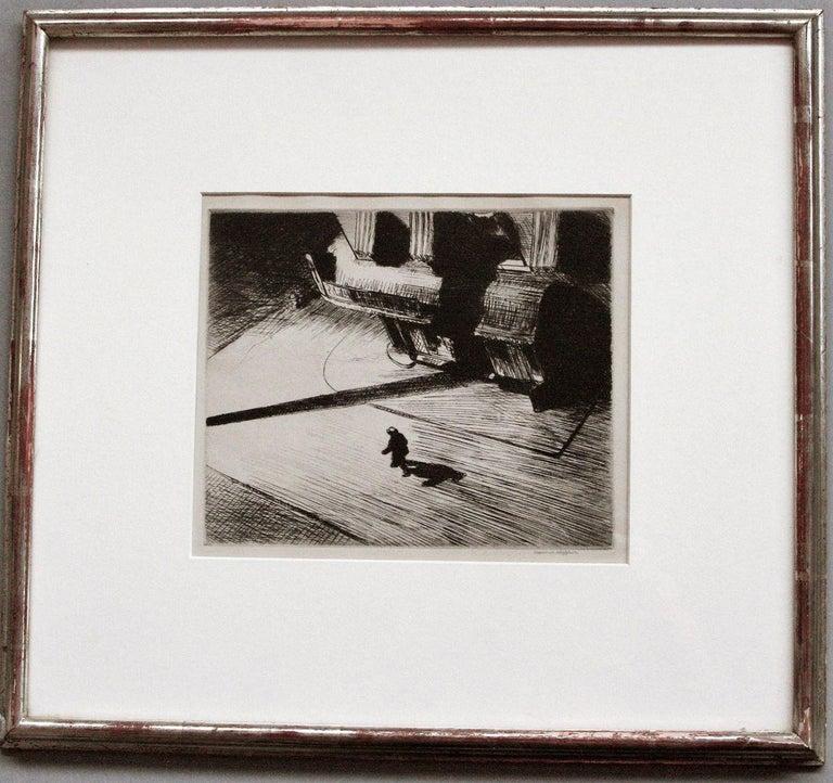 Edward Hopper Figurative Print - Night Shadows