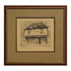 The Old Curiosity Shop Immortalized by Charles Dickens Realist Landscape Etching