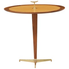 Edward J. Wormley Brass Tri-Leg Side Table for Dunbar