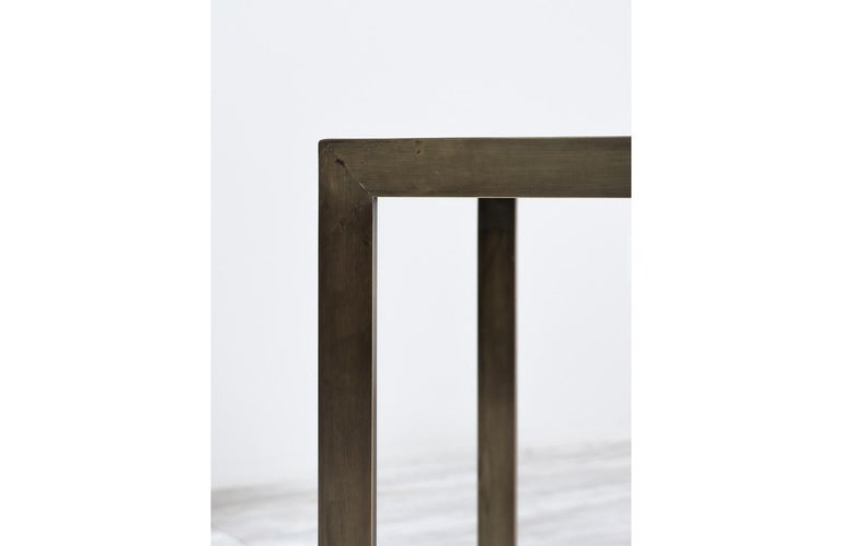 Edward J. Wormley Bronze Console Table with Crema Marfil Stone Top for Dunbar For Sale 5