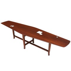 Edward J. Wormley Coffee Table with Tile-Top for Dunbar