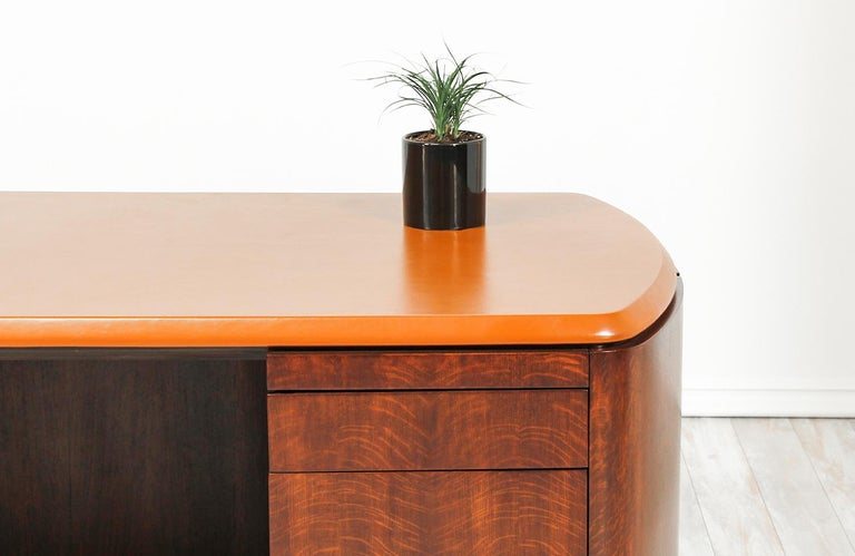 Edward J. Wormley Executive Leather Top Desk for Dunbar 5
