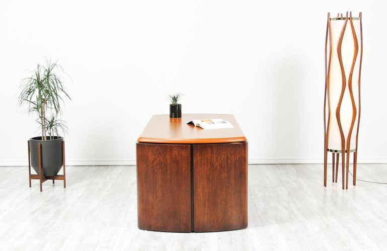 Mid-Century Modern Edward J. Wormley Executive Leather Top Desk for Dunbar