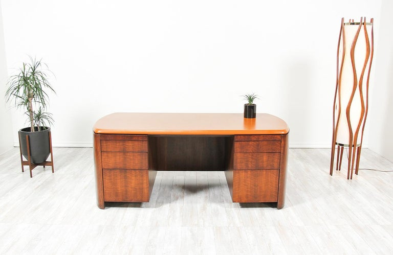Edward J. Wormley Executive Leather Top Desk for Dunbar 1