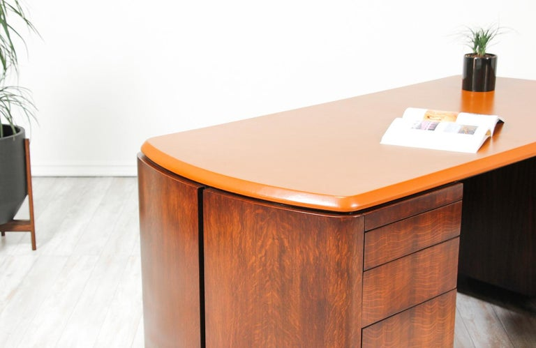 Edward J. Wormley Executive Leather Top Desk for Dunbar 4