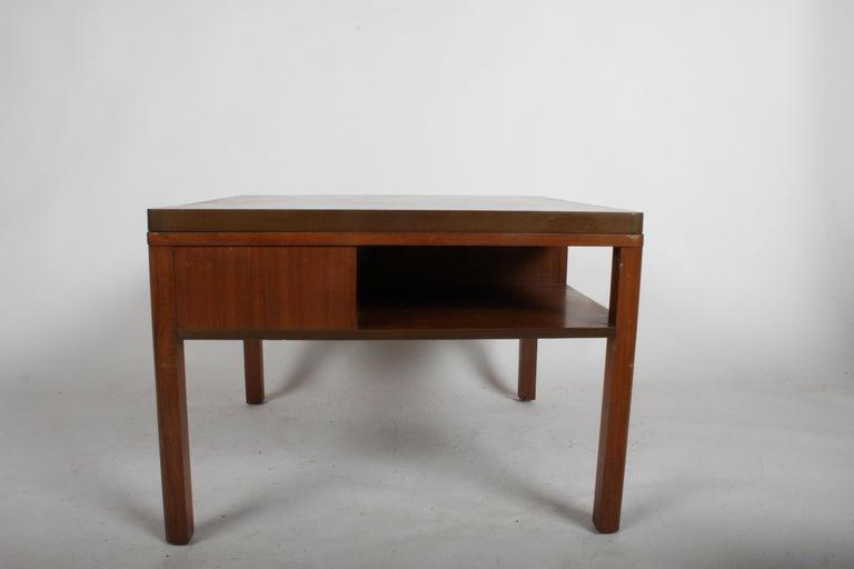Edward J. Wormley for Dunbar, 1940s Bookshelf End Table For Sale 3