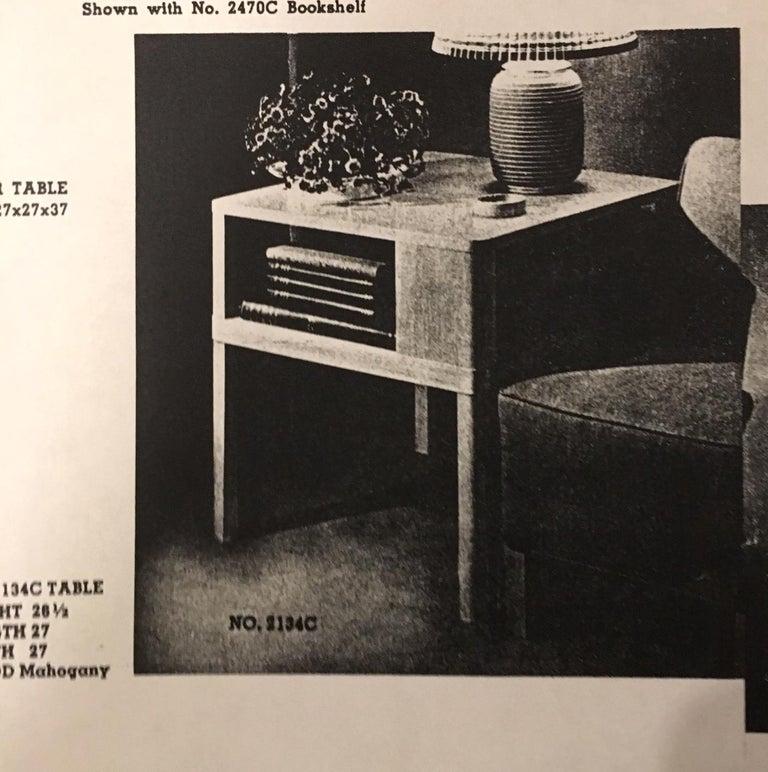 Edward J. Wormley for Dunbar, 1940s Bookshelf End Table For Sale 6