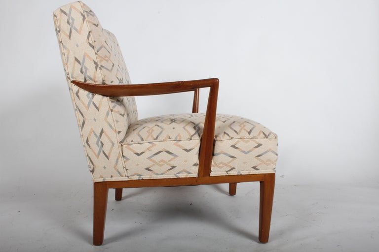 Mid-Century Modern Edward J. Wormley for Dunbar Arm Lounge Chair For Sale