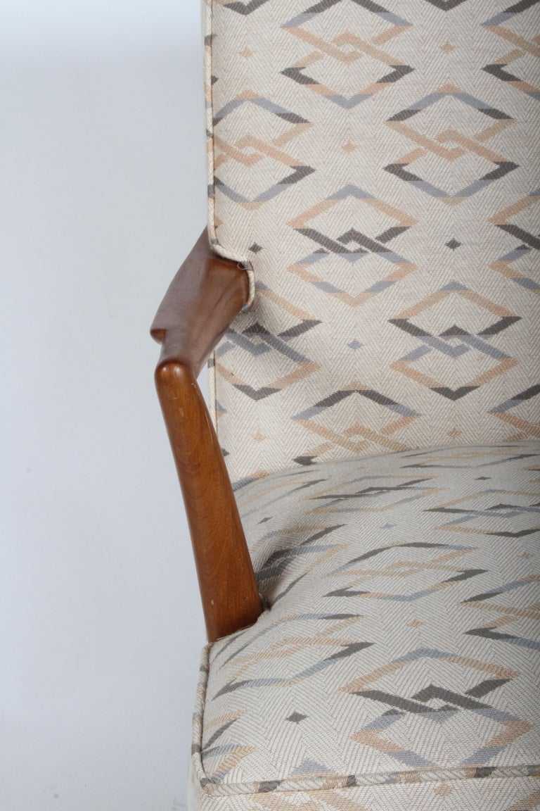 American Edward J. Wormley for Dunbar Arm Lounge Chair For Sale