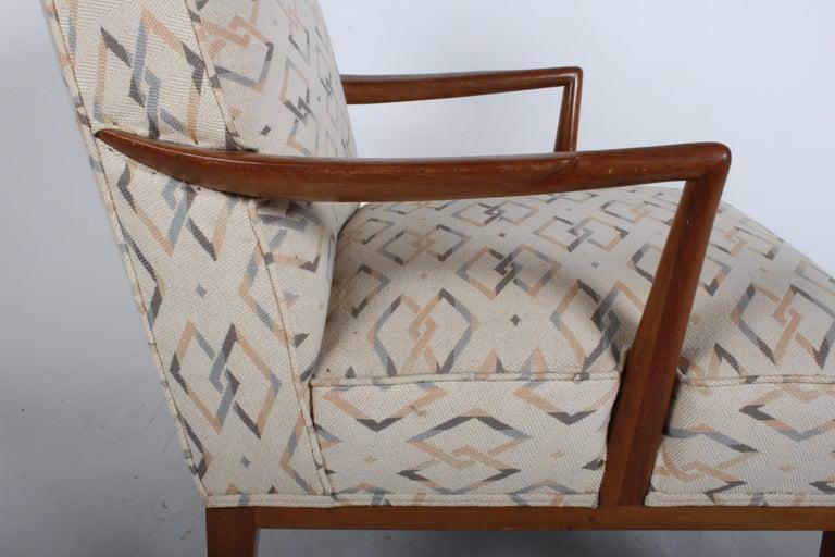 Walnut Edward J. Wormley for Dunbar Arm Lounge Chair For Sale