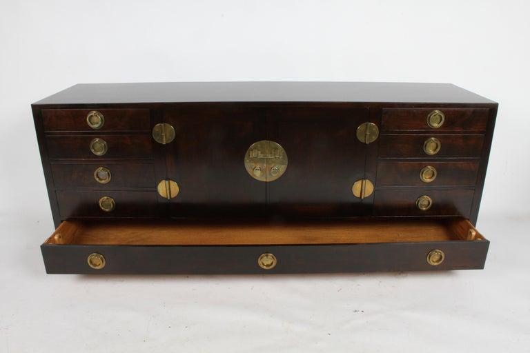 American Edward J. Wormley for Dunbar Asian Inspired Sideboard, circa 1950s For Sale