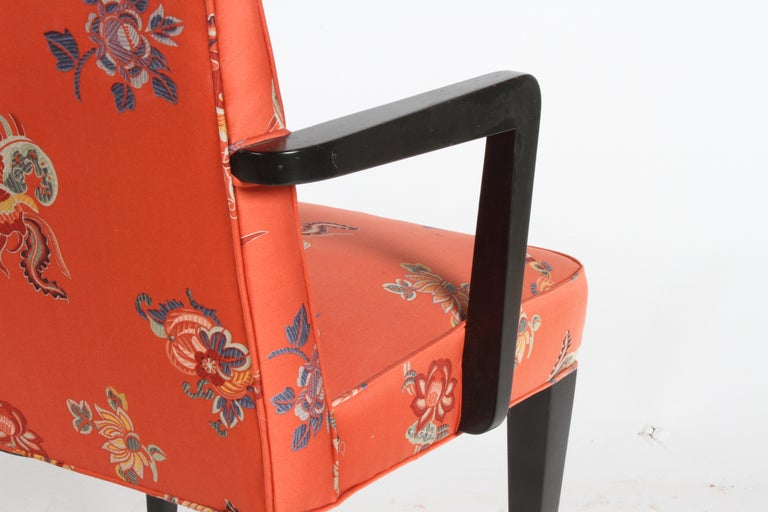 Edward J. Wormley for Dunbar Brass Handle Armchair For Sale 4