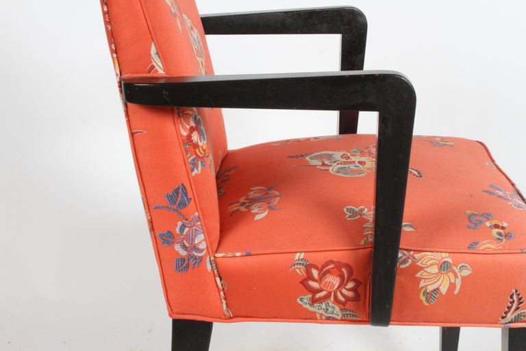 Edward J. Wormley for Dunbar Brass Handle Armchair For Sale 5