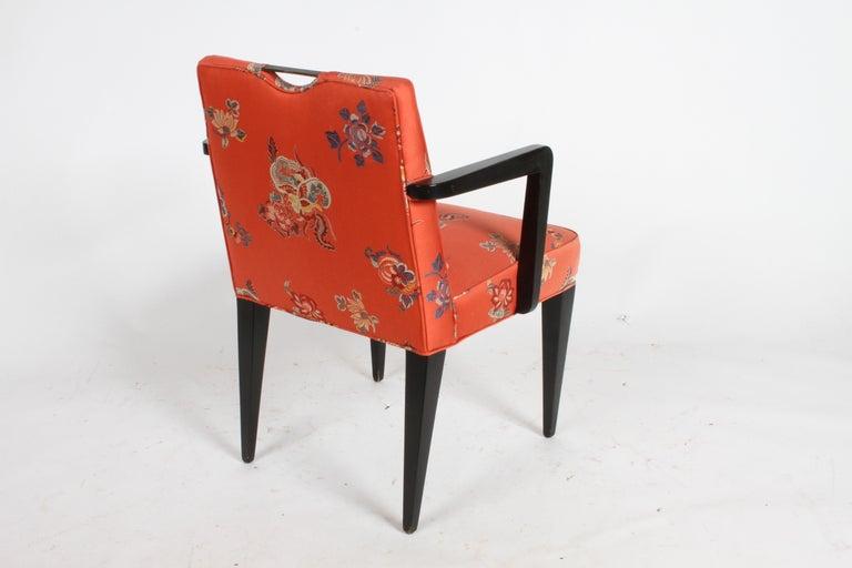 Edward J. Wormley for Dunbar Brass Handle Armchair For Sale 7