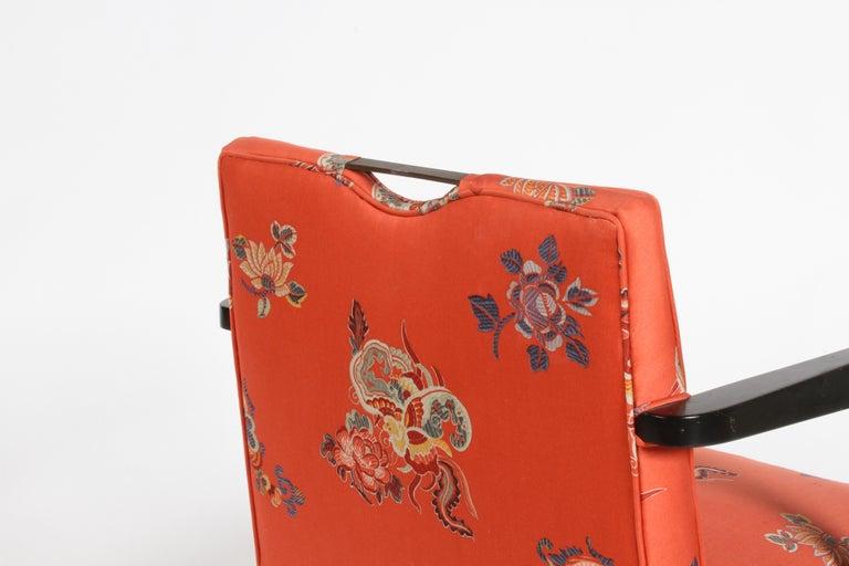 Edward J. Wormley for Dunbar Brass Handle Armchair For Sale 8