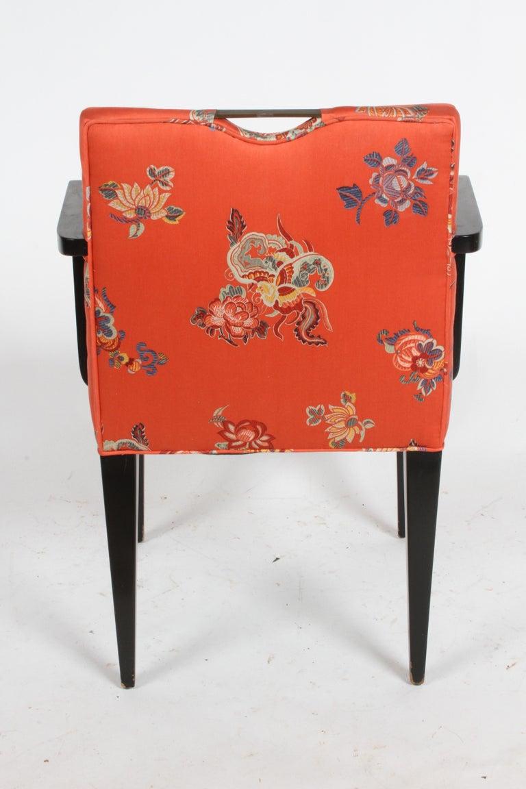 Edward J. Wormley for Dunbar Brass Handle Armchair For Sale 9