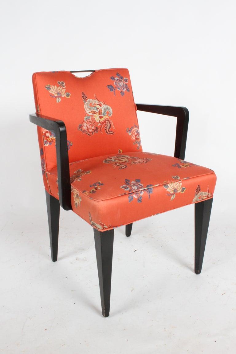Edward J. Wormley for Dunbar Brass Handle Armchair For Sale 1