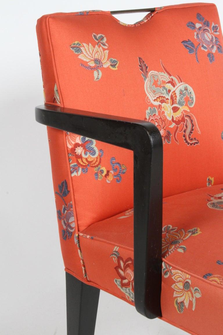 Edward J. Wormley for Dunbar Brass Handle Armchair For Sale 2