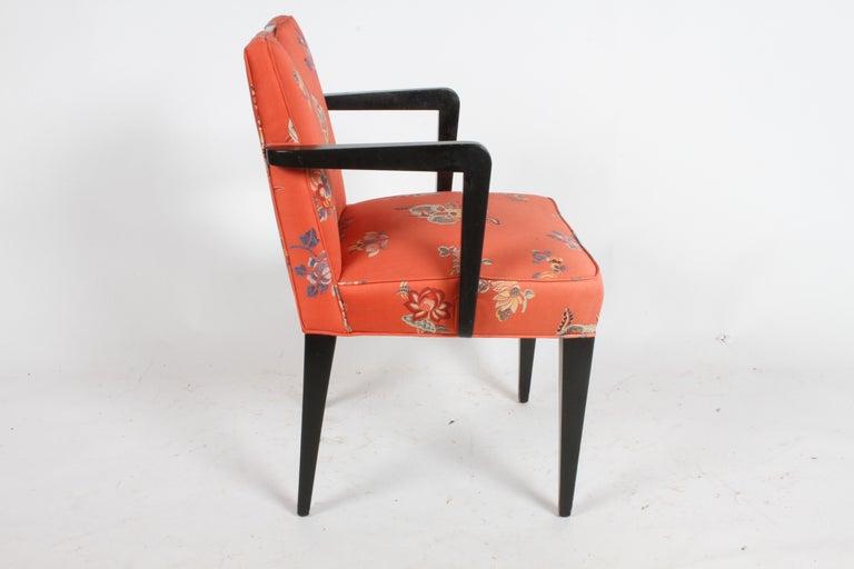 Edward J. Wormley for Dunbar Brass Handle Armchair For Sale 3