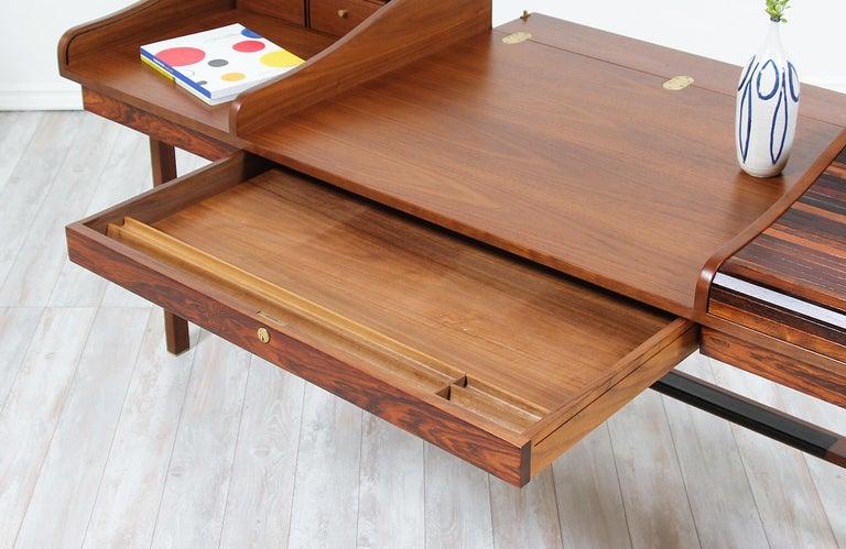 Edward J. Wormley Model #452 Tambour-Door Rosewood Desk for Dunbar For Sale 4