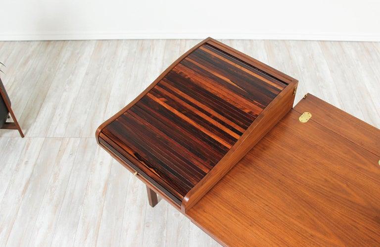 Edward J. Wormley Model #452 Tambour-Door Rosewood Desk for Dunbar For Sale 5