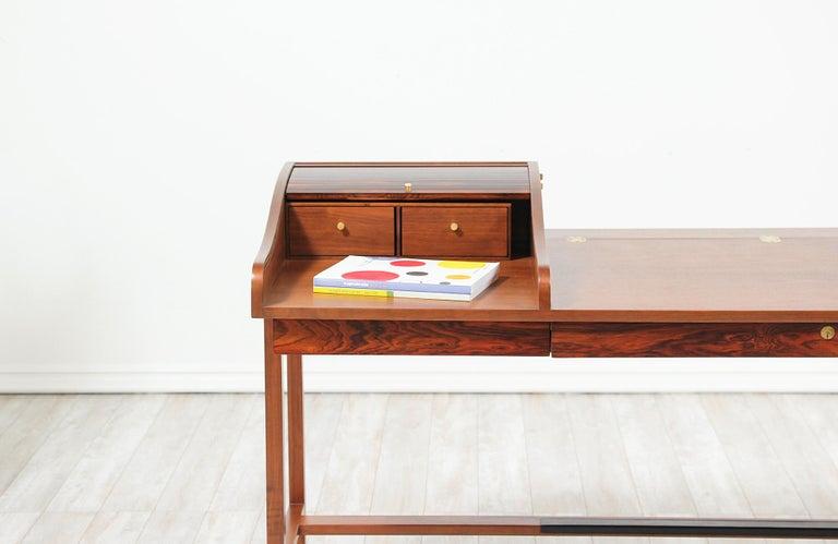 Edward J. Wormley Model #452 Tambour-Door Rosewood Desk for Dunbar For Sale 6