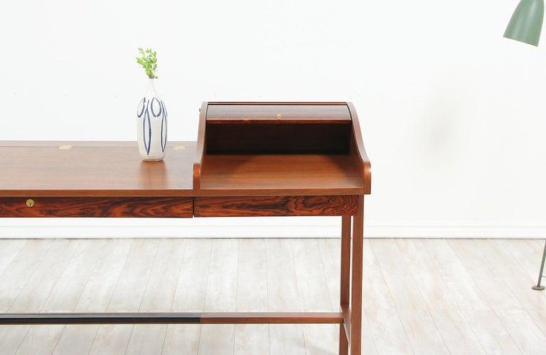 Edward J. Wormley Model #452 Tambour-Door Rosewood Desk for Dunbar For Sale 7