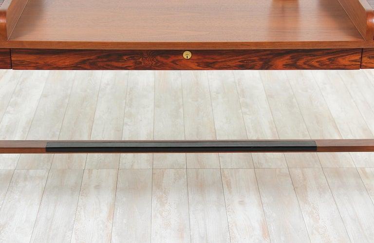 Edward J. Wormley Model #452 Tambour-Door Rosewood Desk for Dunbar For Sale 8