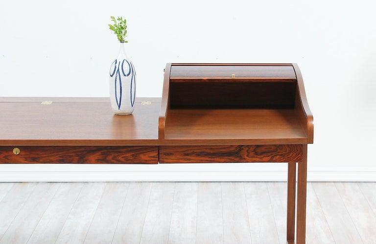 Edward J. Wormley Model #452 Tambour-Door Rosewood Desk for Dunbar For Sale 10