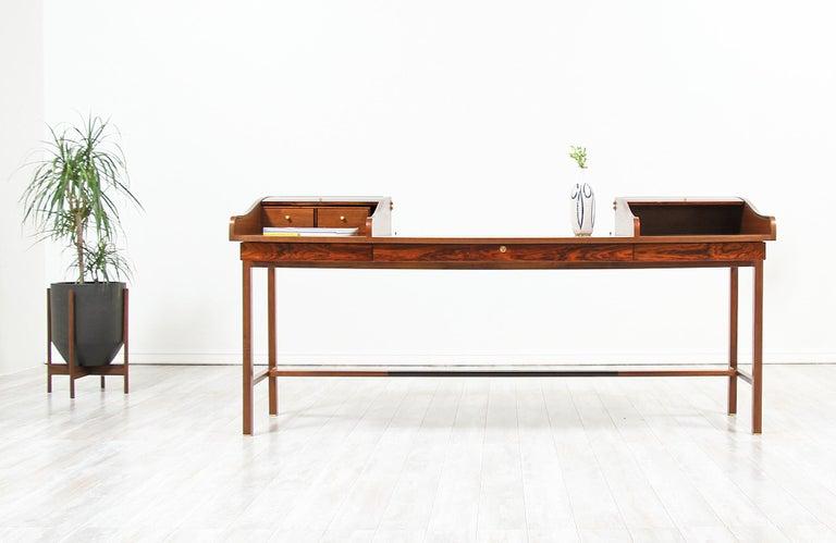 American Edward J. Wormley Model #452 Tambour-Door Rosewood Desk for Dunbar For Sale