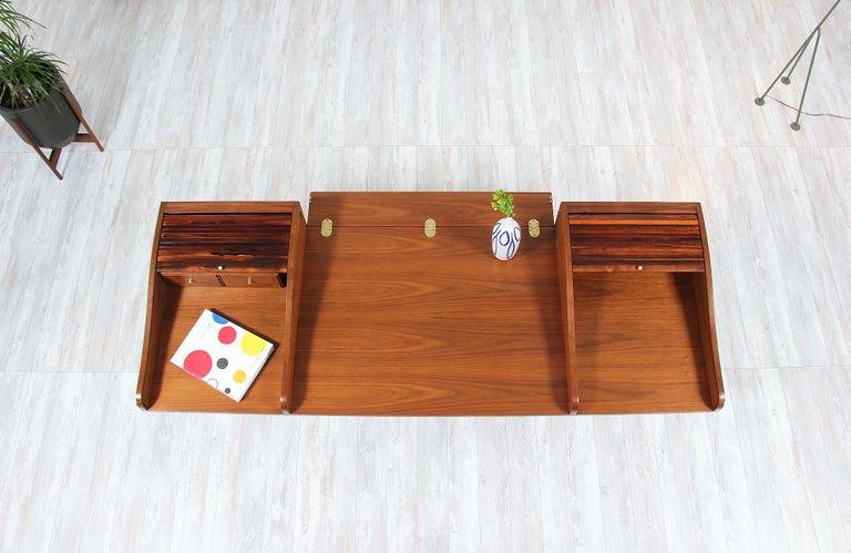 Edward J. Wormley Model #452 Tambour-Door Rosewood Desk for Dunbar For Sale 2