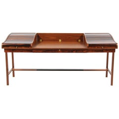 Edward J. Wormley Model #452 Tambour-Door Rosewood Desk for Dunbar