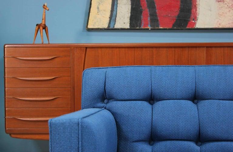 Mid-20th Century Edward J. Wormley Model-5136 Sofa with Brass Legs for Dunbar For Sale