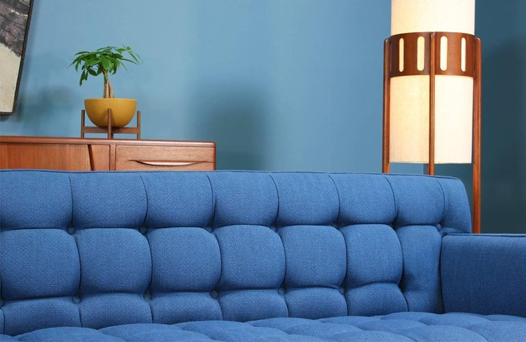 Edward J. Wormley Model-5136 Sofa with Brass Legs for Dunbar For Sale 2
