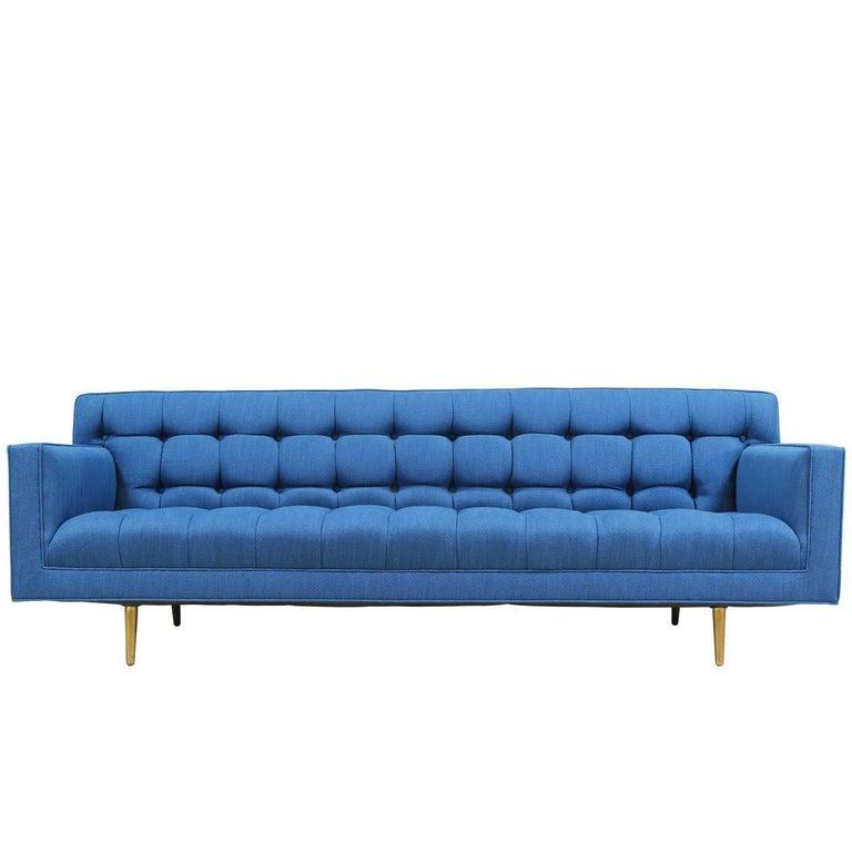 Edward J. Wormley Model-5136 Sofa with Brass Legs for Dunbar For Sale