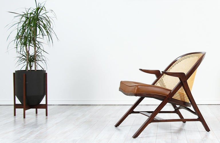 Leather Edward J. Wormley Model 5700-A Lounge Chair for Dunbar