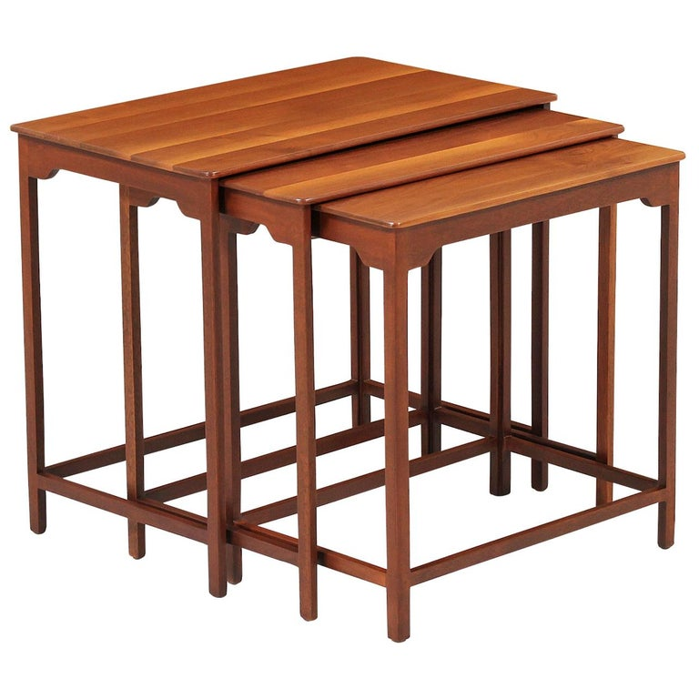 Edward J. Wormley Nesting Tables for Dunbar For Sale