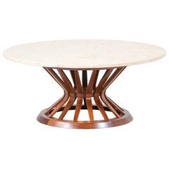 "Edward J. Wormley ""Sheaf of Wheat"" Marble Stone Top Coffee Table for Dunbar"
