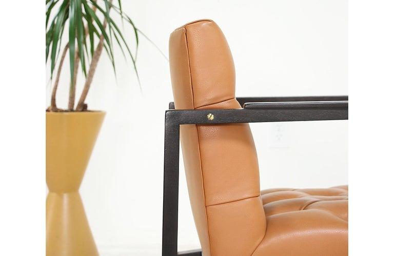 Edward J. Wormley Tufted Lounge Chair for Dunbar For Sale 4
