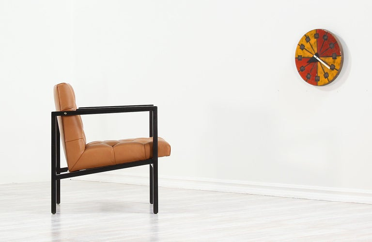 Mid-Century Modern Edward J. Wormley Tufted Lounge Chair for Dunbar For Sale