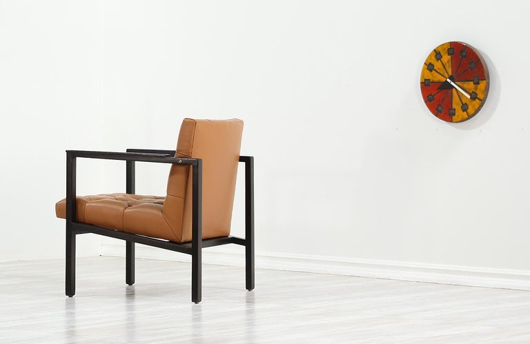 Mid-20th Century Edward J. Wormley Tufted Lounge Chair for Dunbar For Sale