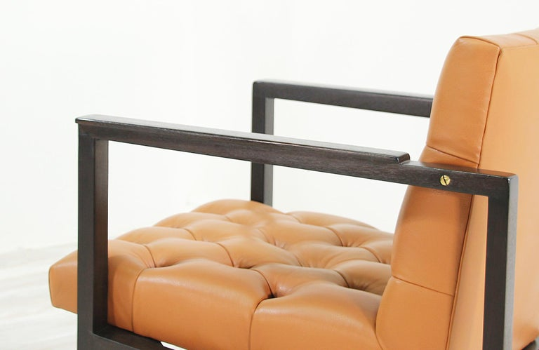 Edward J. Wormley Tufted Lounge Chair for Dunbar For Sale 1