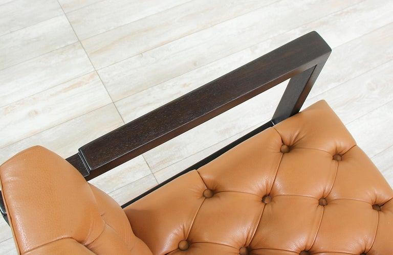 Edward J. Wormley Tufted Lounge Chair for Dunbar For Sale 2
