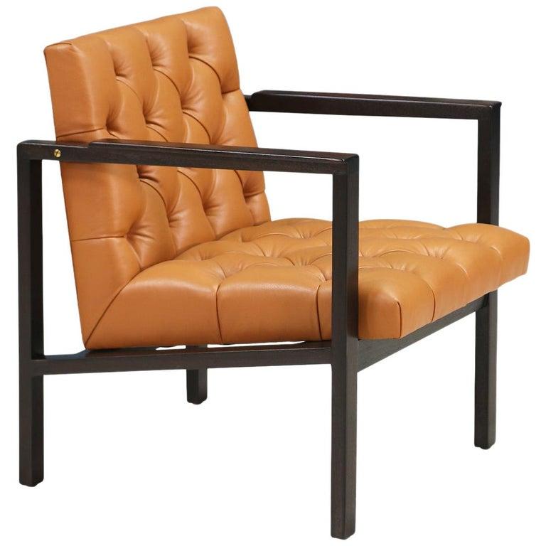 Edward J. Wormley Tufted Lounge Chair for Dunbar For Sale