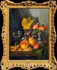 Still life with Silver Tazza, Glass Roemer and Fruit
