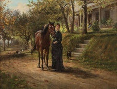 Trusted Companions, a genre scene by Edward Lamson Henry (1841-1919, American)