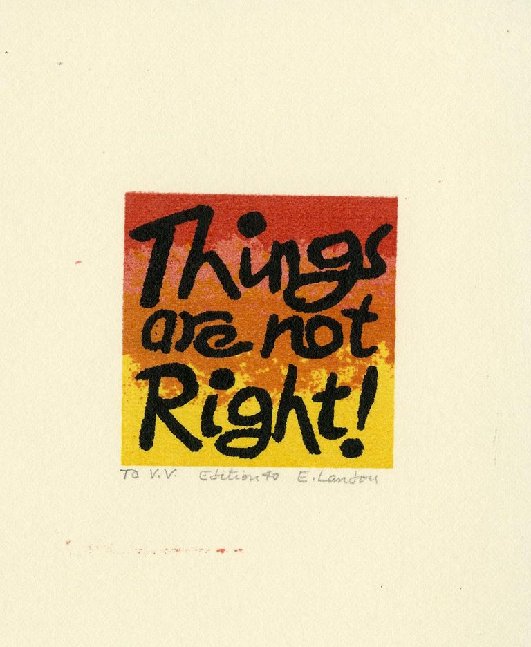 Things are not Right! - Print by Edward Landon