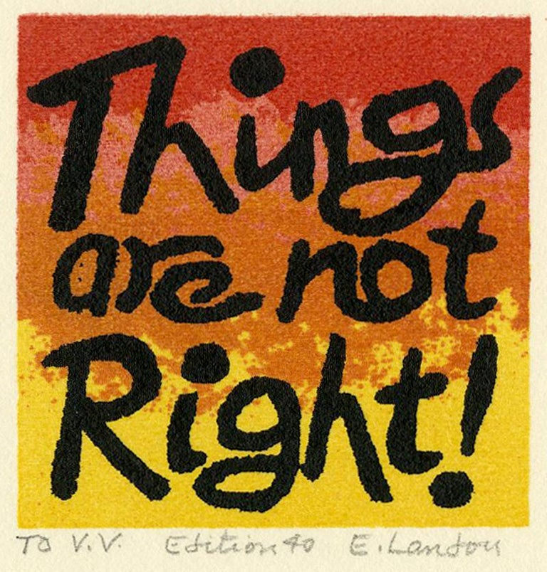 Edward Landon Print - Things are not Right!